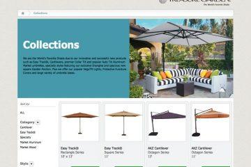 Treasure Garden Unveils Patio Umbrella Design Studio