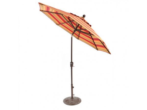 Treasure Garden 7.5' push button tilt market umbrella with Astoria Sunset Sunbrella fabric