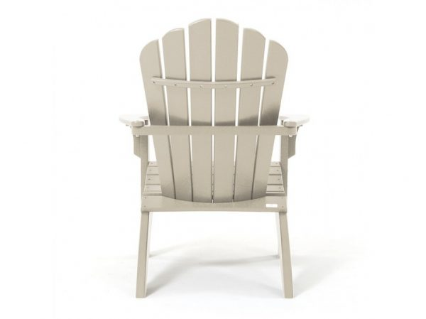 Patio Adirondack chair natural - back view