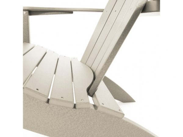 Seaside Casual natural Adirondack chair detailed view