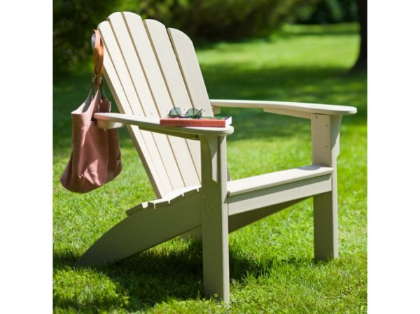 Natural Adirondack chair on the grass