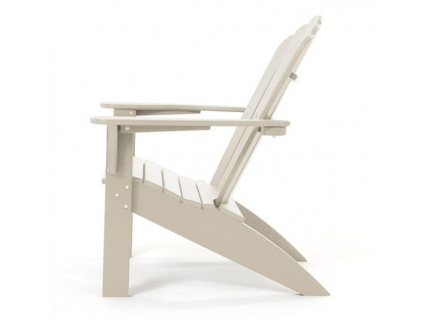 Seaside Casual outdoor natural Adirondack chair side view