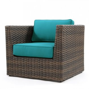 Bellanova wicker club chair - Spectrum Peacock