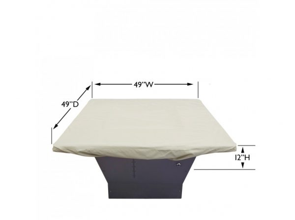"CP932 42"" To 48"" Square fire pit cover dimensions"