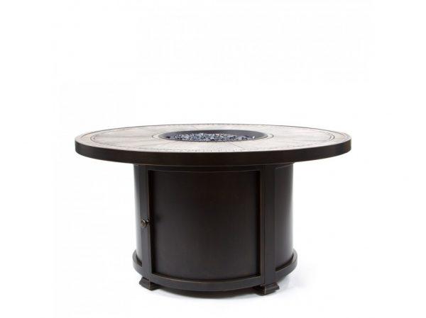"Melrose 48"" round porcelain top fire pit"