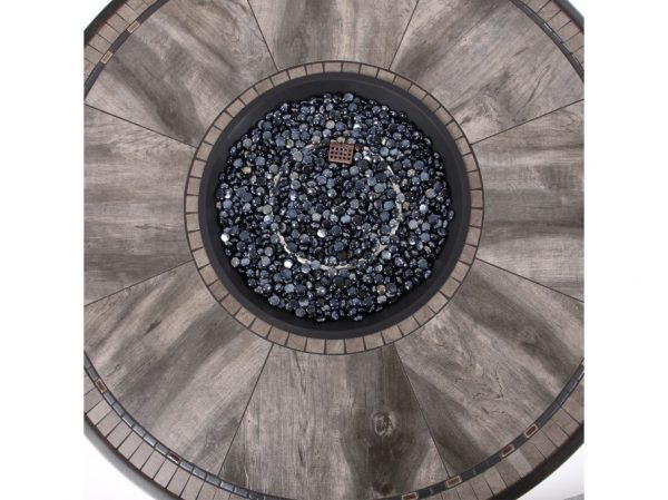 """Melrose 48"""" round porcelain top fire pit top view"""