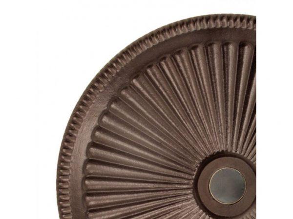 Classic umbrella base 50lb - Bronze top view close up