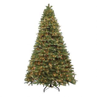 12' Alaskan pine artificial Christmas tree - clear lights
