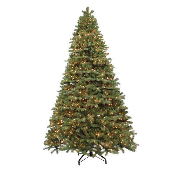 12' Alaskan pine artificial Christmas tree - clear lights