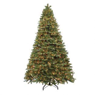 10' Alaskan one plug artificial Christmas tree - clear lights
