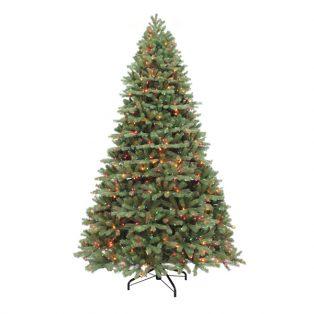 10' Alaskan one plug artificial Christmas tree - multi colored lights
