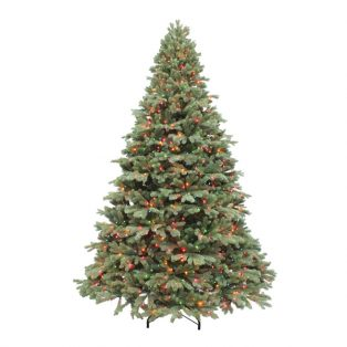 10' Northwest one plug artificial Christmas tree with multi colored lights
