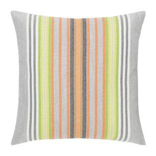"Spring Stripe 20"" square patio throw pillow from Elaine Smith"