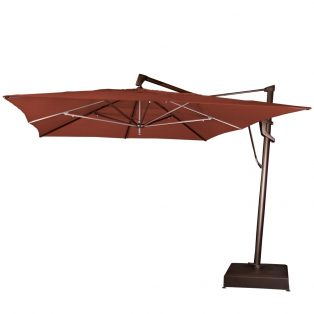 10' x 13' rectangle cantilever umbrella - Henna