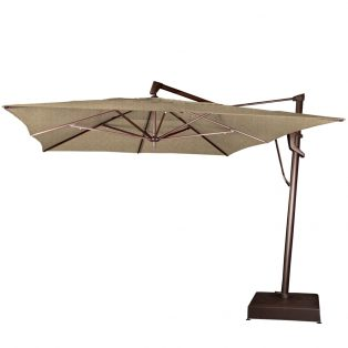 10' x 13' rectangle cantilever umbrella - Sesame Linen