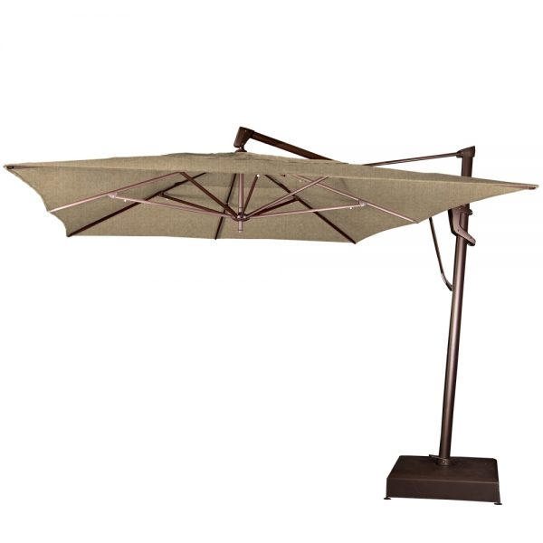 10' x 13' rectangle cantilever umbrella - Sesame Linen