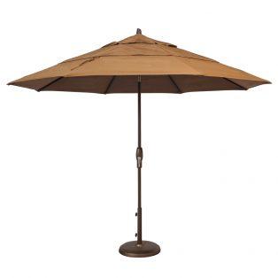 11' Market umbrella - Teak