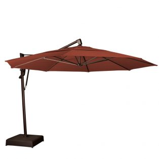 13' octagon cantilever umbrella - Henna