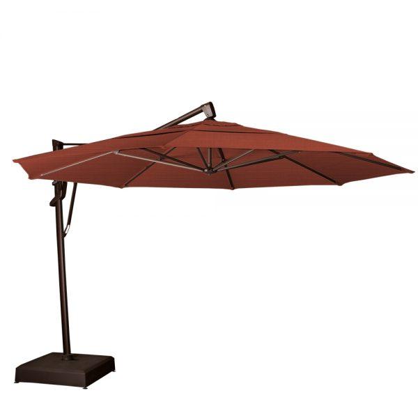 13' octagon cantilever umbrella - Henna