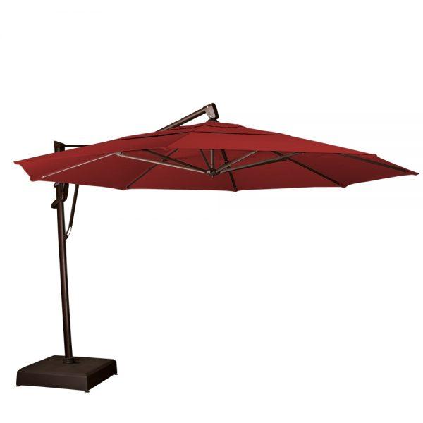 13' Octagon cantilever umbrella - Jockey Red