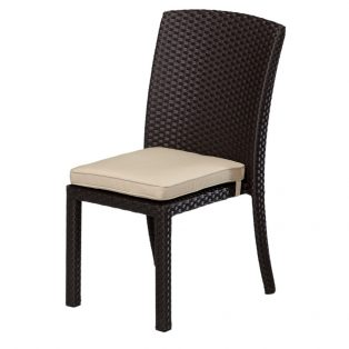 Solana stacking armless dining chair