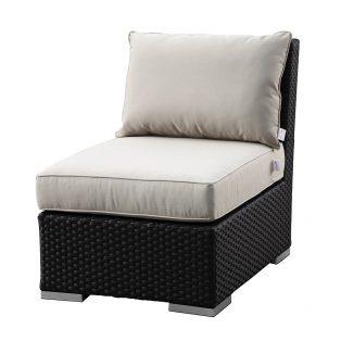 Solana armless club chair