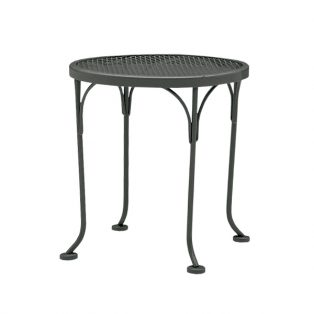"17"" round mesh top end table"