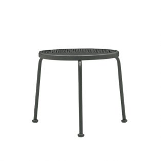 "17"" round mesh top stackable end table"