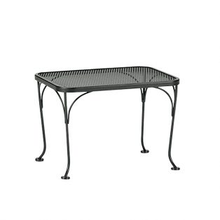 "18""x24"" rectangular mesh top side table"