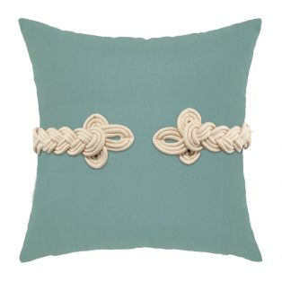 "Elaine Smith 19"" square designer throw pillow - Spa Frog's Clasp"