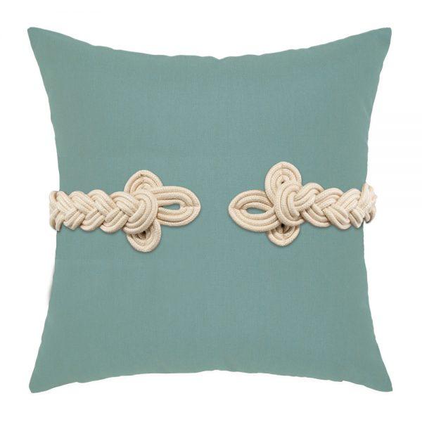 "Elaine Smith 19"" square designer throw pillow - Spa Frog's Clasp"
