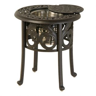 "20"" round chateau ice bucket table"
