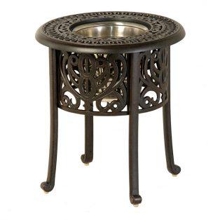 "20"" round Tuscany ice bucket table"