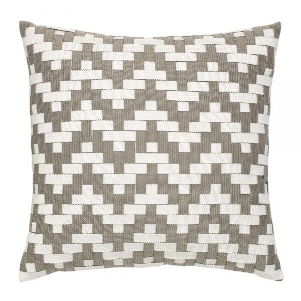 """Elaine Smith 20"""" square Alabaster Basketweave throw pillow"""