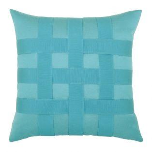 """20"""" Basketweave Aruba square patio throw pillow from Elaine Smith"""