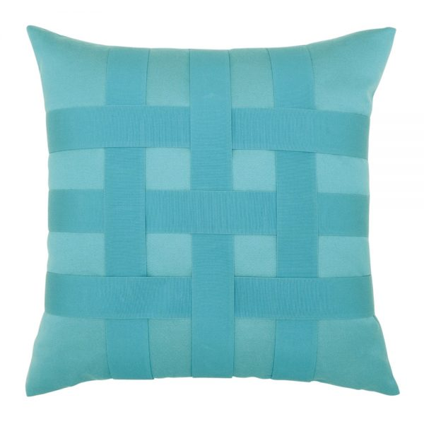 "20"" Basketweave Aruba square patio throw pillow from Elaine Smith"
