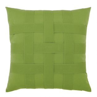 "20"" Basketweave Ginkgo square patio throw pillow from Elaine Smith"