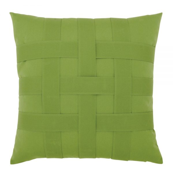 """20"""" Basketweave Ginkgo square patio throw pillow from Elaine Smith"""