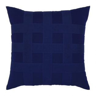 "20"" Basketweave Navy square patio throw pillow from Elaine Smith"