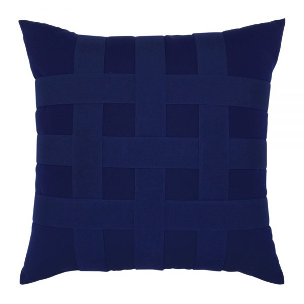 """20"""" Basketweave Navy square patio throw pillow from Elaine Smith"""