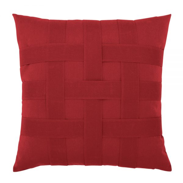 """20"""" Basketweave Rouge square patio throw pillow from Elaine Smith"""