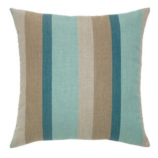 "20"" Color Block Lagoon square patio throw pillow from Elaine Smith"