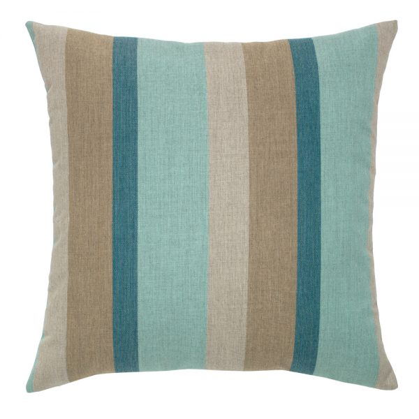 """20"""" Color Block Lagoon square patio throw pillow from Elaine Smith"""