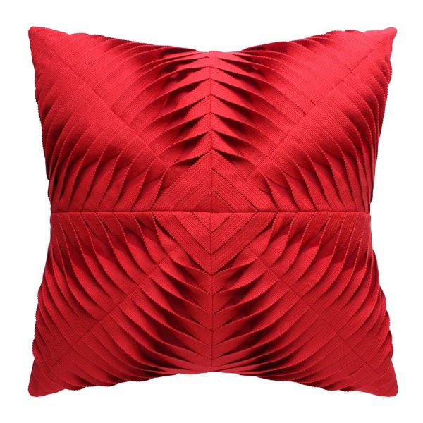 "20"" square Dimension Scarlet outdoor pillow from Elaine Smith"