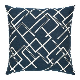 "Elaine Smith 20"" Divergence Indigo designer outdoor pillow"