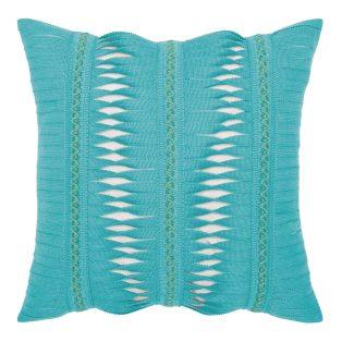 "Elaine Smith 20"" square designer throw pillow - Gladiator Aruba"