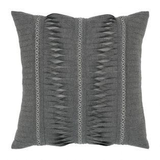 """Elaine Smith 20"""" designer pillow - Gladiator Smoke"""
