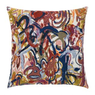 "Graffiti Elaine Smith 20"" square outdoor pillow"