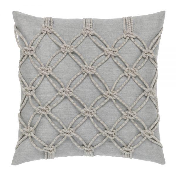 """Elaine Smith 20"""" designer pillow - Granite Rope"""