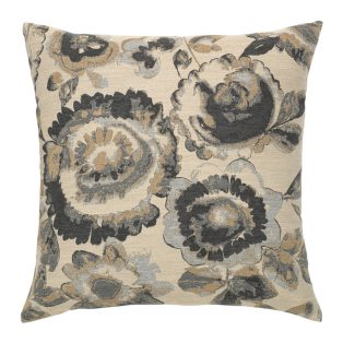 "20"" Grigio Floral square patio throw pillow from Elaine Smith"